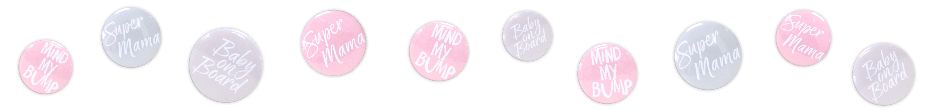 Pregnancy badges for expectant mums