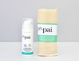 Pai cleanser and muslin