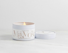 Article White - Tin candle