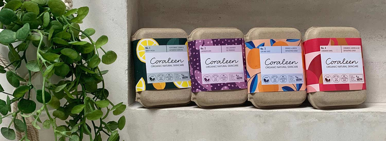 Coraleen Skincare, Artisanal handcrafted soap bars
